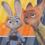 Zootopia Nick And Judy Napkins