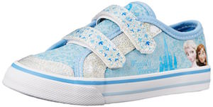 Kids Frozen Anna And Elsa Canvas Sneakers