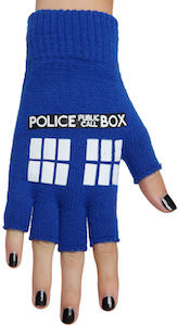 Doctor Who Fingerless Tardis Gloves