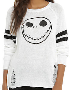 The Nightmare Before Christmas White Jack Skellington Women's Sweater