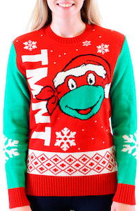 TMNT Turtle Face Christmas Sweater