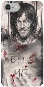 Daryl Dixon Bite Me iPhone Case