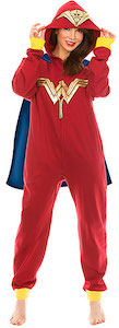DC Comics Wonder Woman Onesie Pajama With Cape And Hood