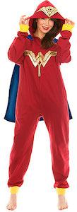 Wonder Woman Onesie Pajama With Cape And Hood