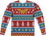 DC Comics Wonder Woman Ugly Christmas Sweater