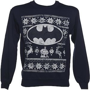Navy Blue Batman Christmas Sweater