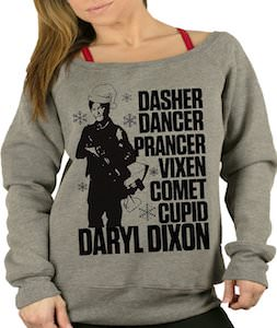 Daryl Dixon And Reindeer Names Christmas Sweater