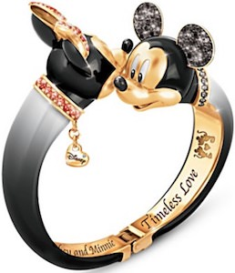 Mickey And Minnie Bangle Bracelet