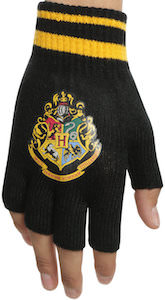 Hogwarts Logo Fingerless Gloves