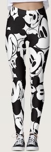 Mickey Mouse Face Leggings