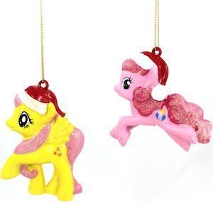 MLP Pinkie Pie And Fluttershy Christmas Ornament Set