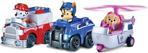 PAW Patrol Marshall, Chase, And Skye Racers