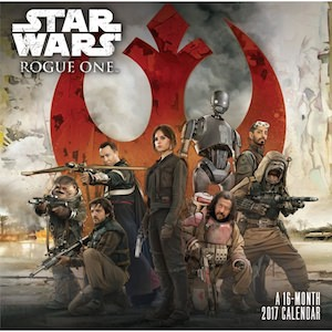2017 Star Wars Rogue One Wall Calendar