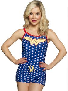 Blue Wonder Woman Romper With Stars