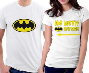 Im With Batman Couples T-Shirt Set