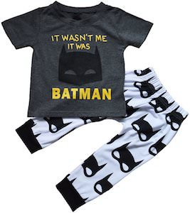 It Wasn't Me It Was Batman Baby Pajama Set
