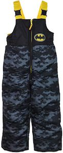 Dark Bats Kids Batman Snow Pants