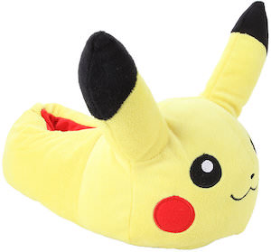 Plush Pikachu Slippers