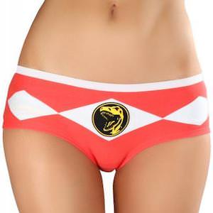 Red Power Ranger Dino Panties