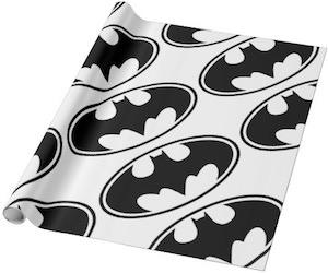 White Batman Wrapping Paper