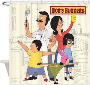 Bob's Burgers Family Shower Curtain