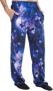 Dr Who Tardis Galaxy Pajama Pants