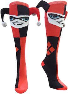 Harley Quinn Jester Knee Socks