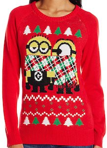 Scarfed Minions Christmas sweater