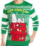 Peanuts Christmas Sweater With Snoopy Just Chillin'