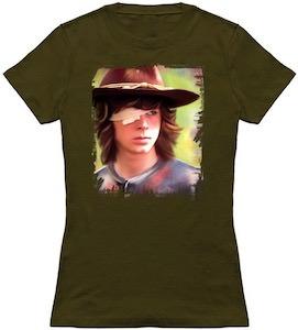 Carl Grimes Portrait T-Shirt