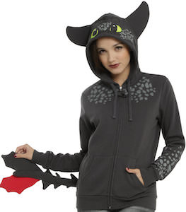 How To Train Your Dragon Women's Toothless Dragon Hoodie