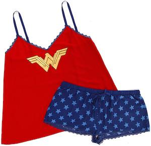 DC Comics Wonder Woman Women's Short and Tank Top Sleep Set