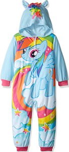 Kids Rainbow Dash Fleece Onesie Pajama