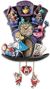 Alice In Wonderland Mad Hatter Cuckoo Clock