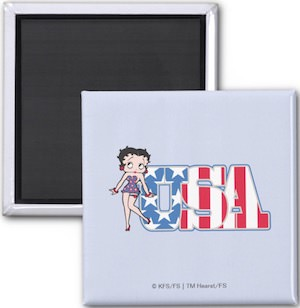 Betty Boop USA Fridge Magnet