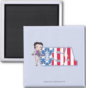 Betty Boop USA Fridge Magnet