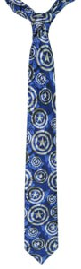 Captain America Shields Design Tie