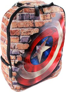Captain America Wall And Shield Backpack