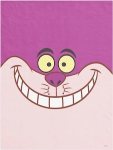 For sale: Cheshire Cat fleece blanket