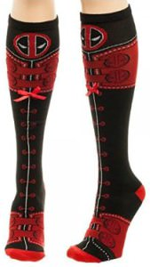 Deadpool Knee High Lace Up Socks