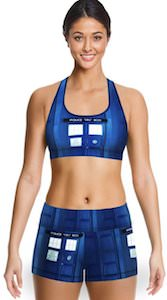 Tardis Blue Police Box Sports Bra And Shorts