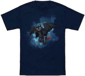 Toothless Flying In The Clouds T-Shirt