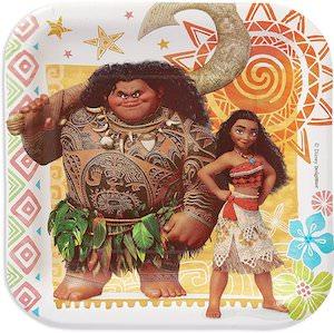 Moana And Maui Paper Plates