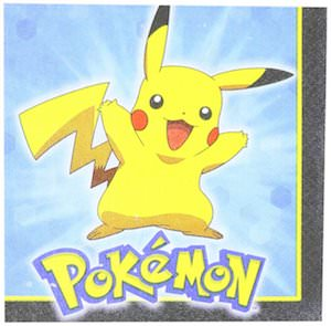 Pokemon Pikachu Napkins