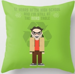 Leonard Hofstadter Nerd Table Throw Pillow