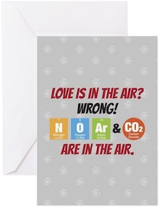 The Big Bang Theory Love Is In The Air Greeting Card