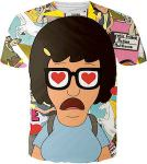 Bob's Burgers Tina With Hearts In Her Eyes T-Shirt
