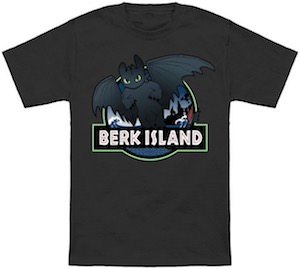 Berk Island And Toothless T-Shirt