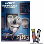 Sing Buster Moon Movie Poster And Bookmark