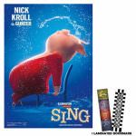 Sing Movie Gunter Poster And Bookmark